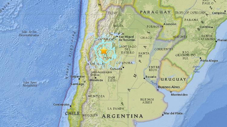 Fuerte terremoto de magnitud 5,4 sacude Argentina