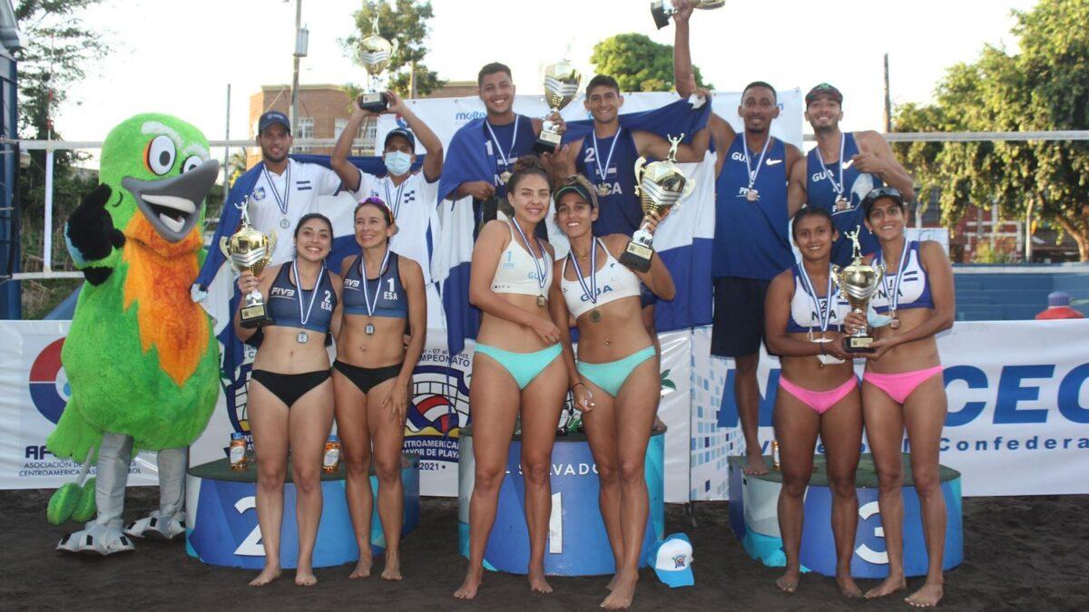 Atletas nicaragüenses conquistan el Centroamericano Mayor de Voleibol Playa