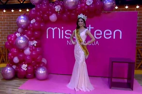 "Linda García es coronada como ""Miss Teen Grand Nicaragua"""