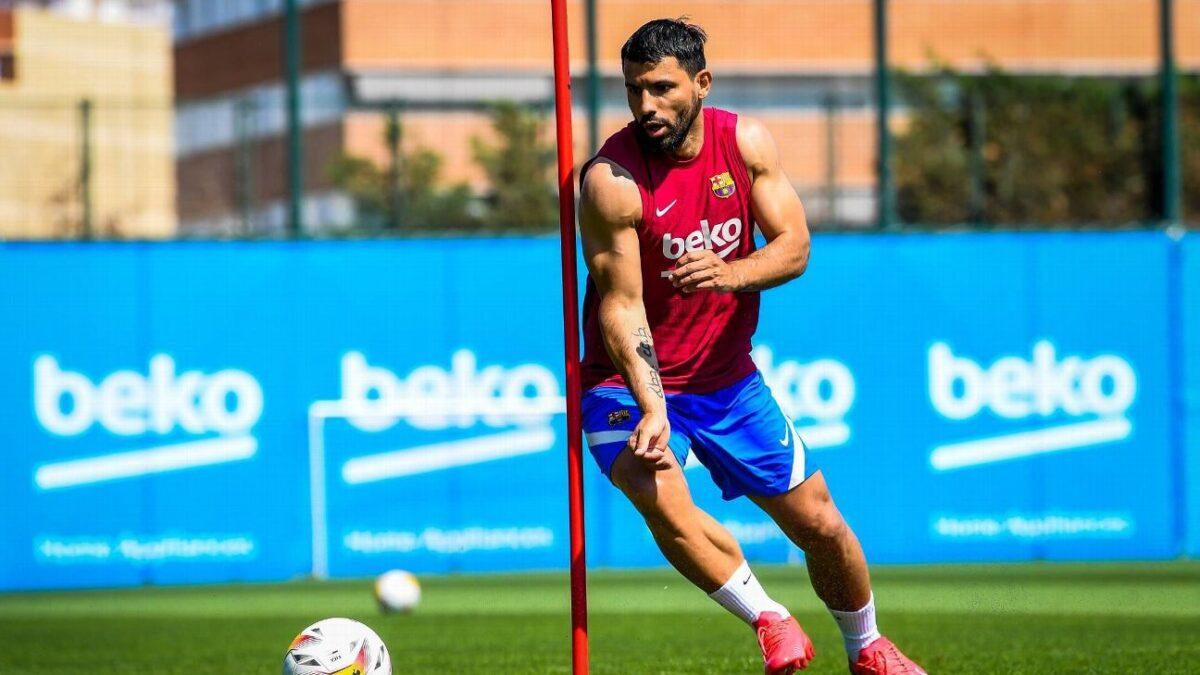 El Kun Agüero se prepara para debutar con el Barcelona