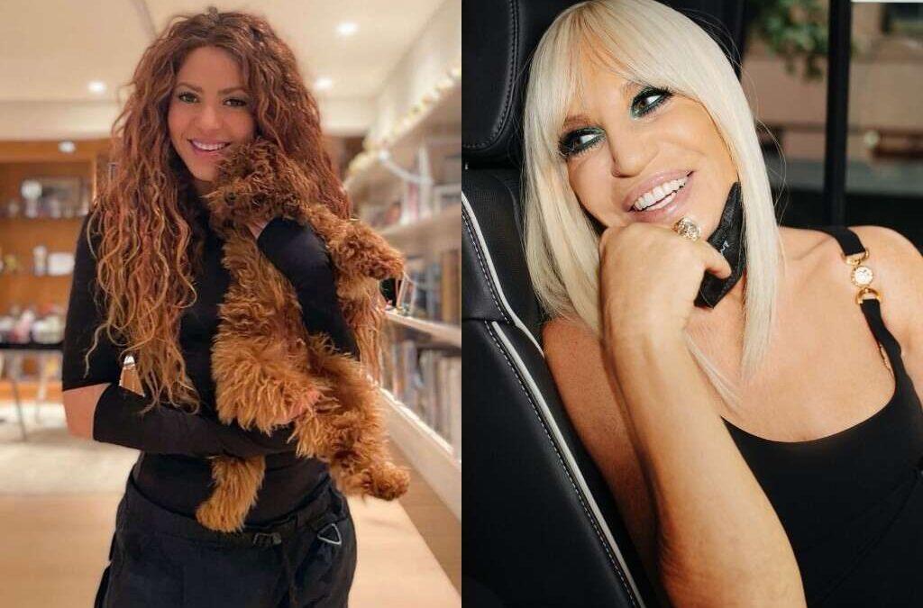 Donatella Versace elogia a Shakira tras escribir una publicación en español